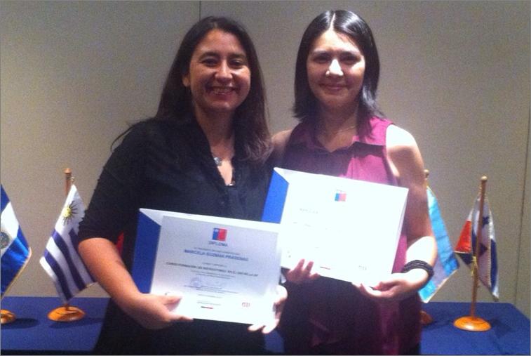 Dra. Marcela Guzmán, junto a la TO María Angélica Gutiérrez